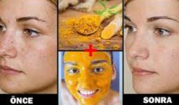 Cild için evde doğal zerdeçal yüz maske yapımı